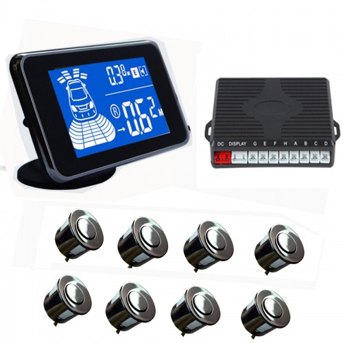 Xo Vision 6 Piece Rear Reverse Parking Sensor System With Led Display