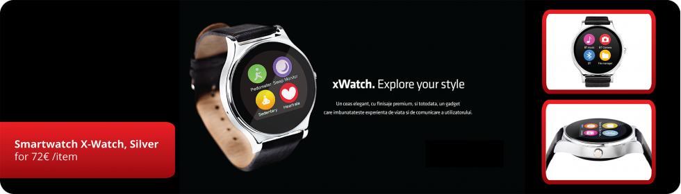 Smartwatch X-Watch, Argintiu