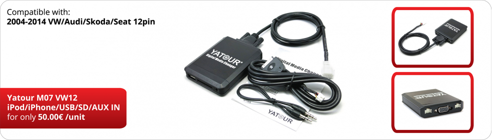 VW12 YT-M07 iPod/iPhone/USB/SD/AUX IN